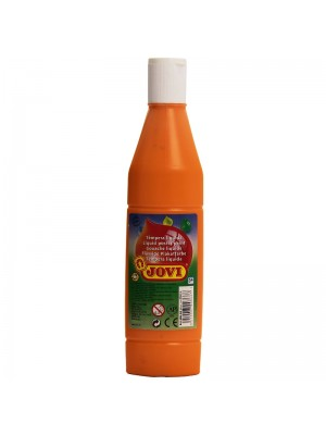 BOTELLA TEMPERA LIQUIDA  500CM3 JOVI COLOR NARANJA