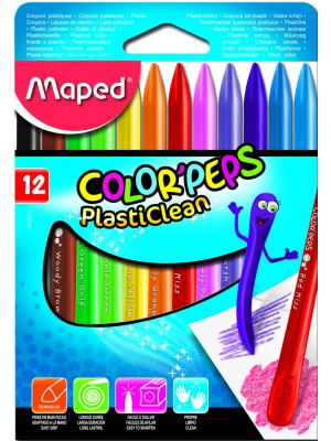 CAJA CERA MAPED COLOR'PEPS PLASTICLEAN 12u