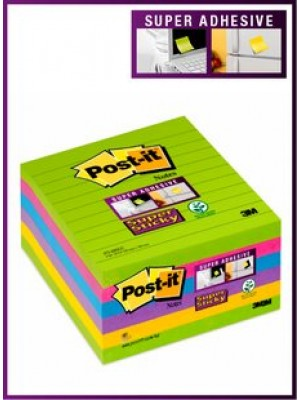 PACK 6 BLOC POST-IT NOTES SUPER STICKY 101X101