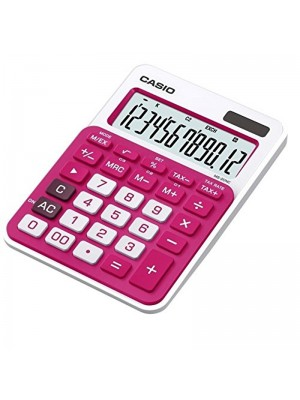 CALCULADORA CASIO MS-20NC-BU ROSA