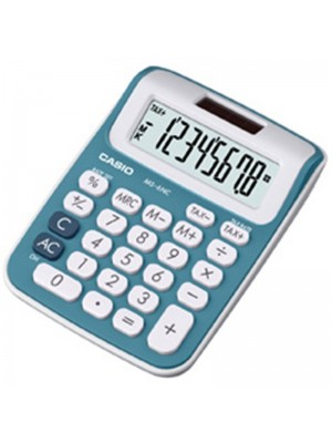 CALCULADORA CASIO MS-6NC-BU.8 DÍGITOS AZUL