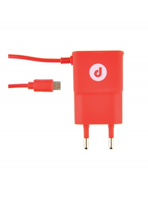 Cargador De Pared Con Cable (Android) Rojo