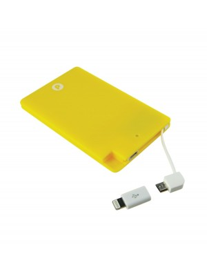 Batería Externa Portátil - Power Bank Slim 2600. Amarillo