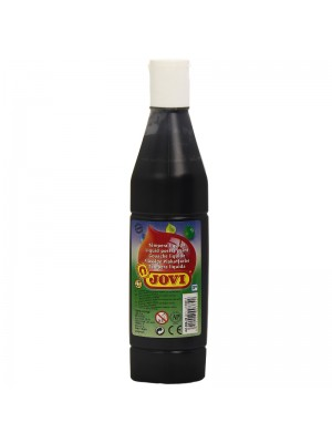 BOTELLA TEMPERA LIQUIDA  500CM3 JOVI COLOR NEGRO