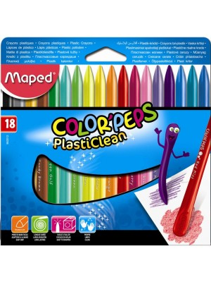 CAJA CERA MAPED COLOR'PEPS PLASTICLEAN 18u