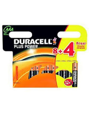 BLISTER PILAS ALCALINAS LR03 DURACELL 8+4